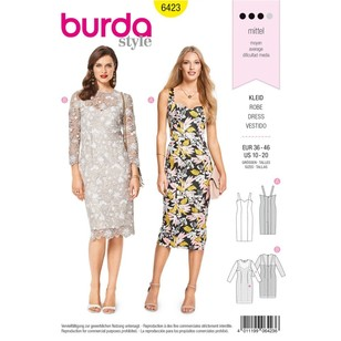 Burda Pattern B6423 Misses' Summer Strap Dresses