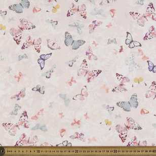 Printed Rayon Vintage Butterfly Fabric