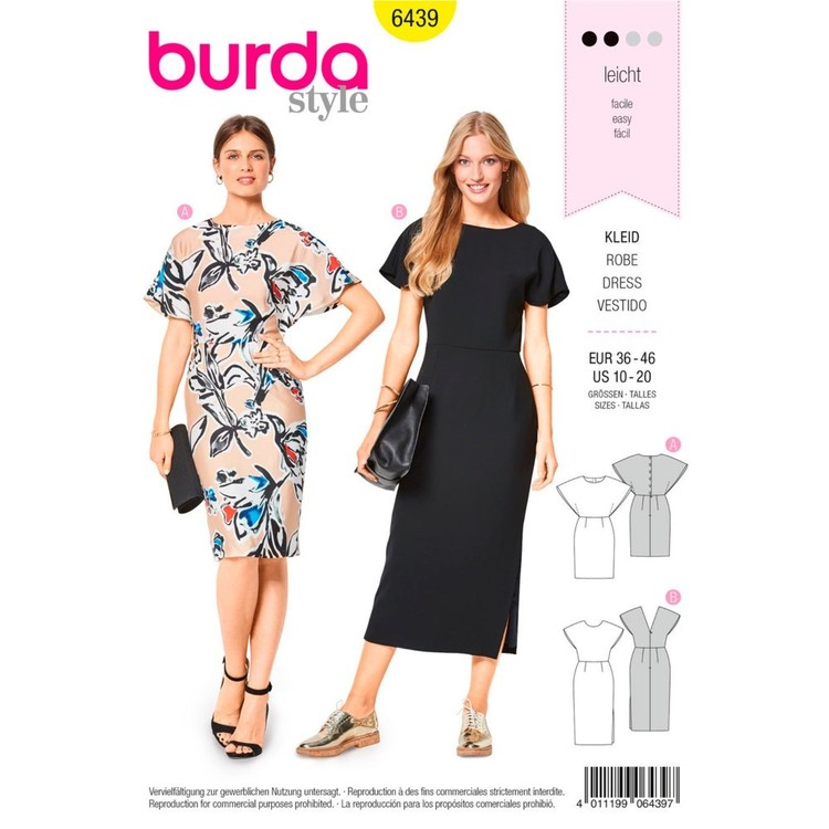 Burda Pattern B6439 Misses' Back Interest Dresses