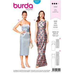Burda Pattern B6441 Misses' Special Occasion Gowns