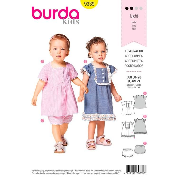 Burda Pattern B9339 Toddler's Dress And Panties