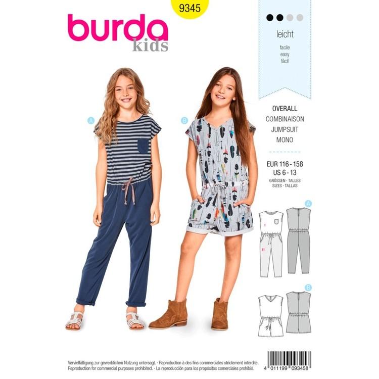 Burda Pattern B9345 Child's Summer Jumpsuits