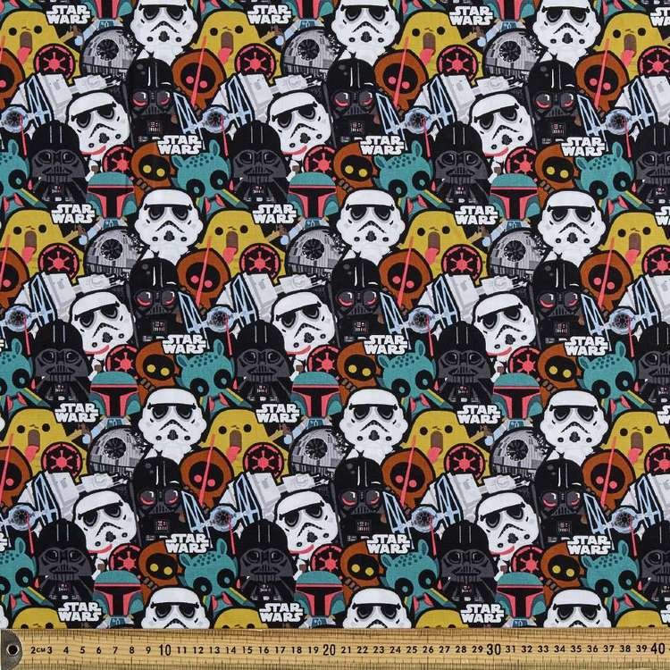 Star Wars Baddies Printed Poplin