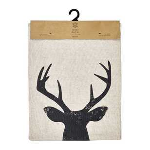 Bouclair Christmas Natural Influence Deer Table Runner