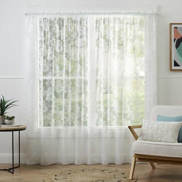 Caprice Eleanor Continuous Sheer Fabric White 213 Cm