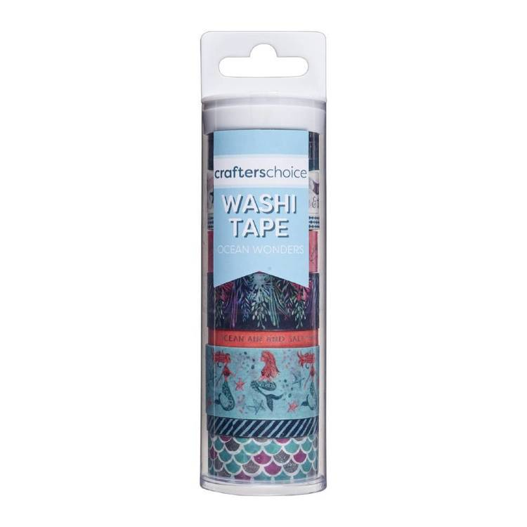 Crafters Choice Ocean Wonders Washi Tape Value Tube Multicoloured