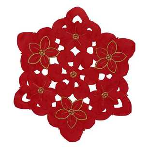 Ladelle Cut Out Christmas Round Doily