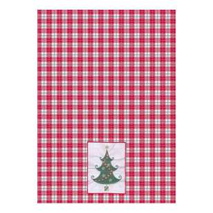 Living Space Festive Embroidered Tree Tea Towels 3 Pack
