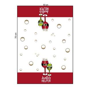 Living Space Festive Santa's Helper Tea Towels 3 Pack