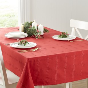 Living Space Festive Christmas Check Tablecloth