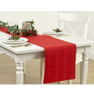 Living Space Festive Christmas Check Runner