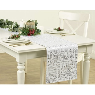 Living Space Festive Seasons Noel Reversible Table Runner