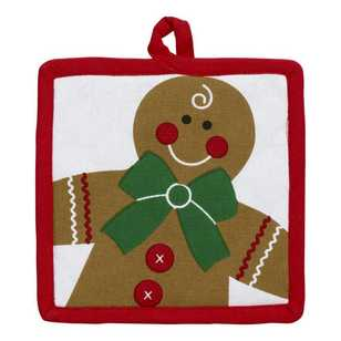 Living Space Festive Gingerbread Oven Pot Holder