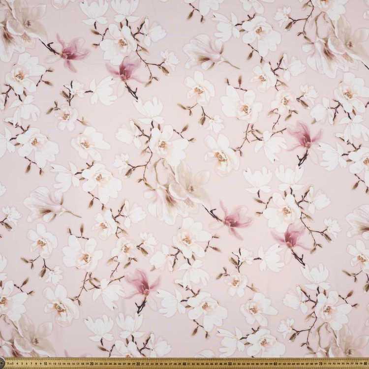Printed Rayon Dusky Magnolia Fabric