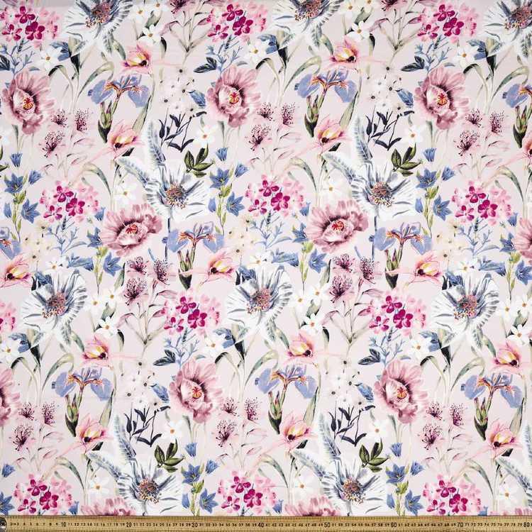 Printed Rayon Gorgeous Garden Fabric