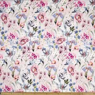 Printed Rayon Gorgeous Garden Fabric