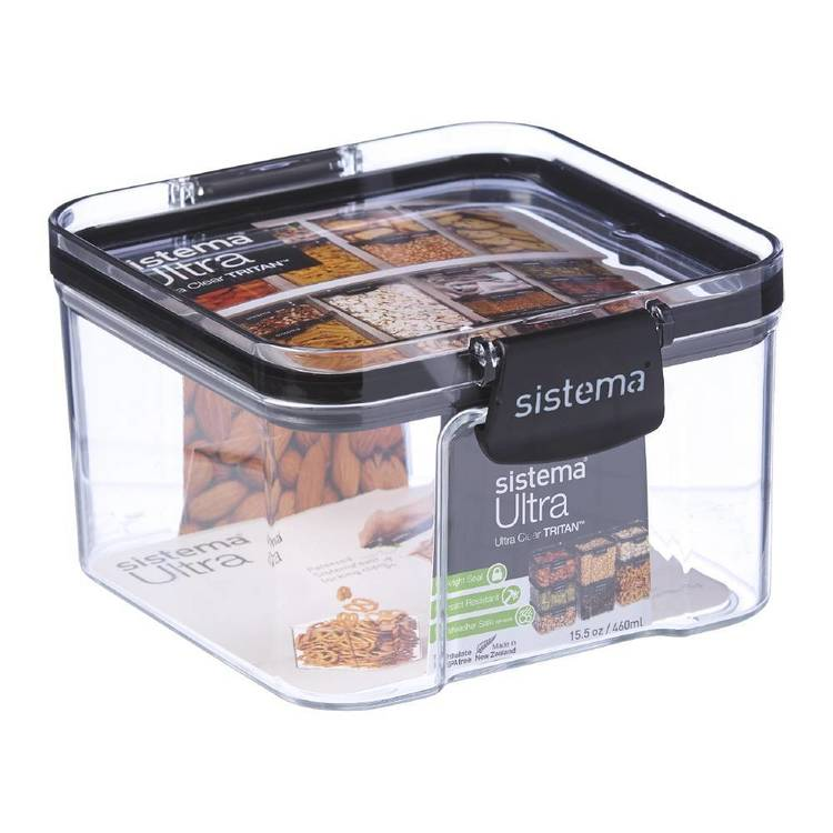 Sistema Ultra 460mL Square Container Clear 460 mL
