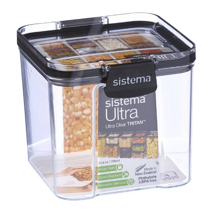 Sistema Ultra 700mL Square Container Clear 700 mL