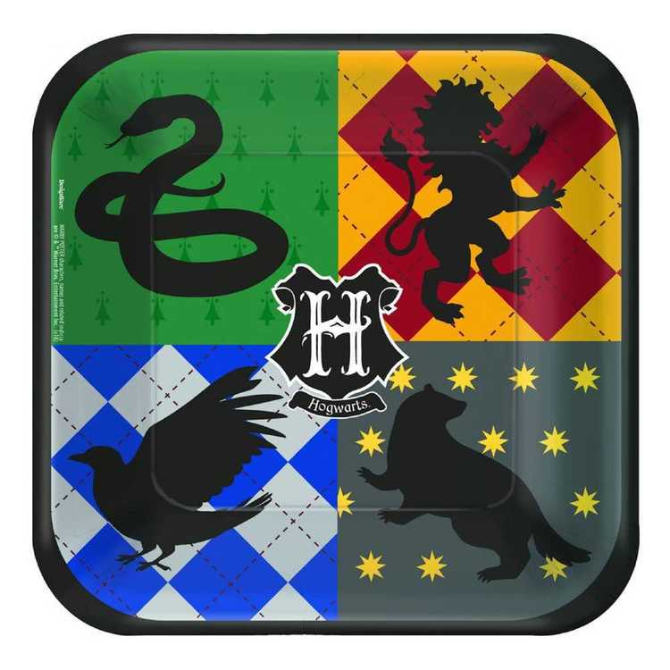 Harry Potter 7 Inch Square Plates Multicoloured 7 in