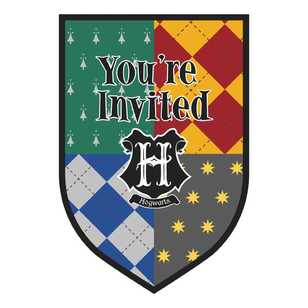 Harry Potter Postcard Invitation 8 Pack
