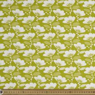 Printed Combed Cotton Floral Citrine 112 cm Fabric