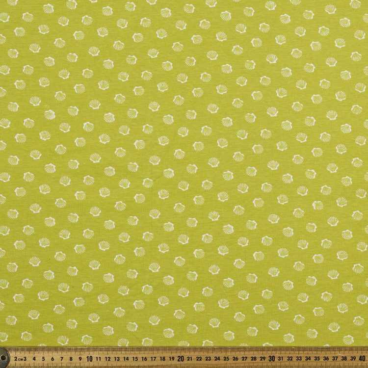 Printed Combed Cotton Shell Citrine 112 cm Fabric