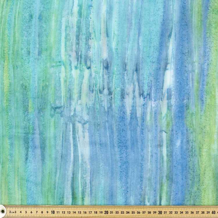 Printed Rayon Lagoon Fabric