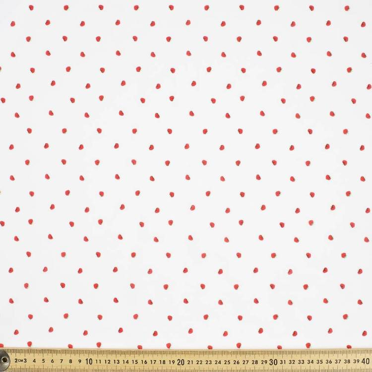 Mix N Match TC Small Strawberries Patterned Fabric