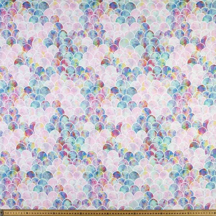 Large Mermaid Scale Montreaux Drill Fabric
