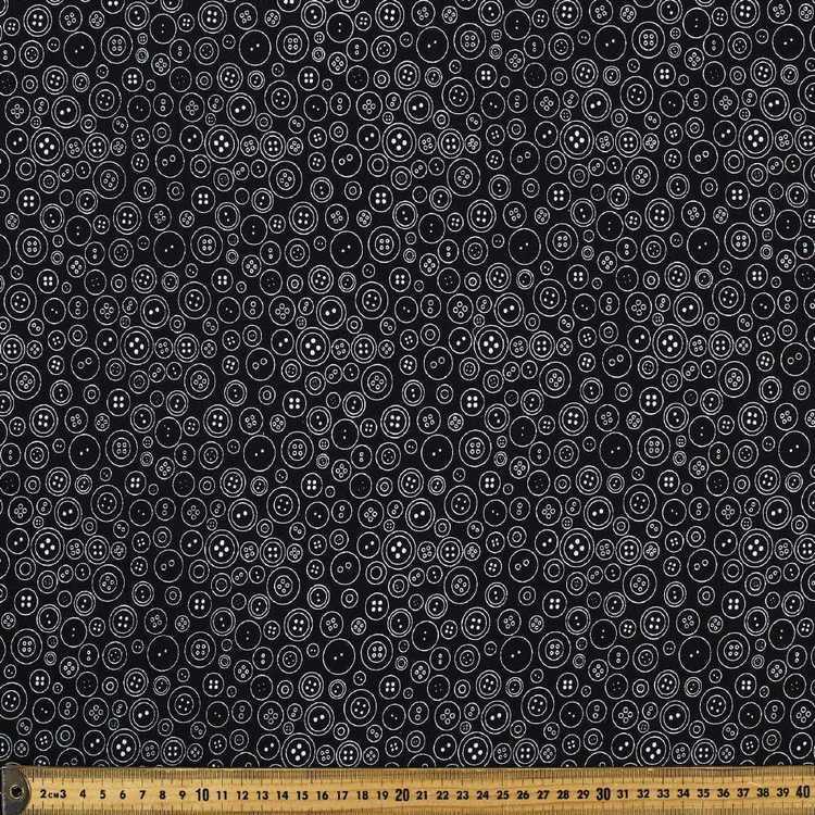 Mix Monotones Buttons Fabric