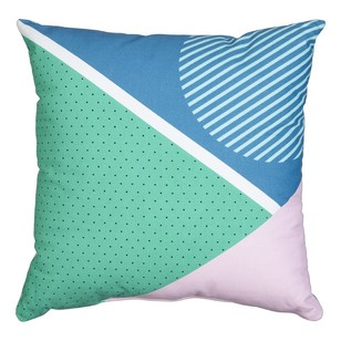 Mode Flat Abstract Geo Cushion