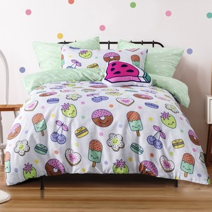 Ombre Blu Sweet Tooth Quilt Cover Set