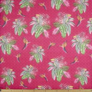 Cotton Feel Poly Plam Pink 148 cm Fabric