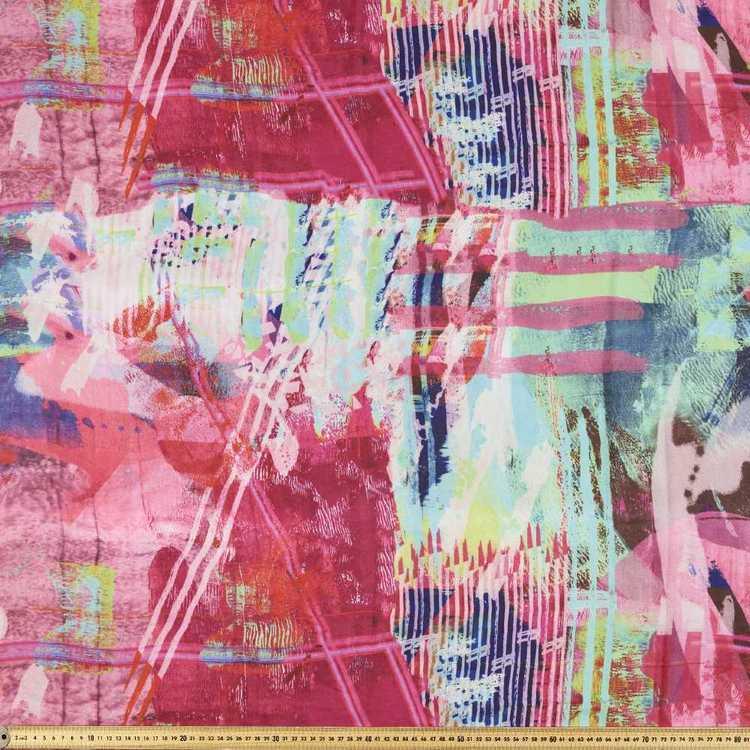 Printed Georgette Scarf 2 148 cm Fabric