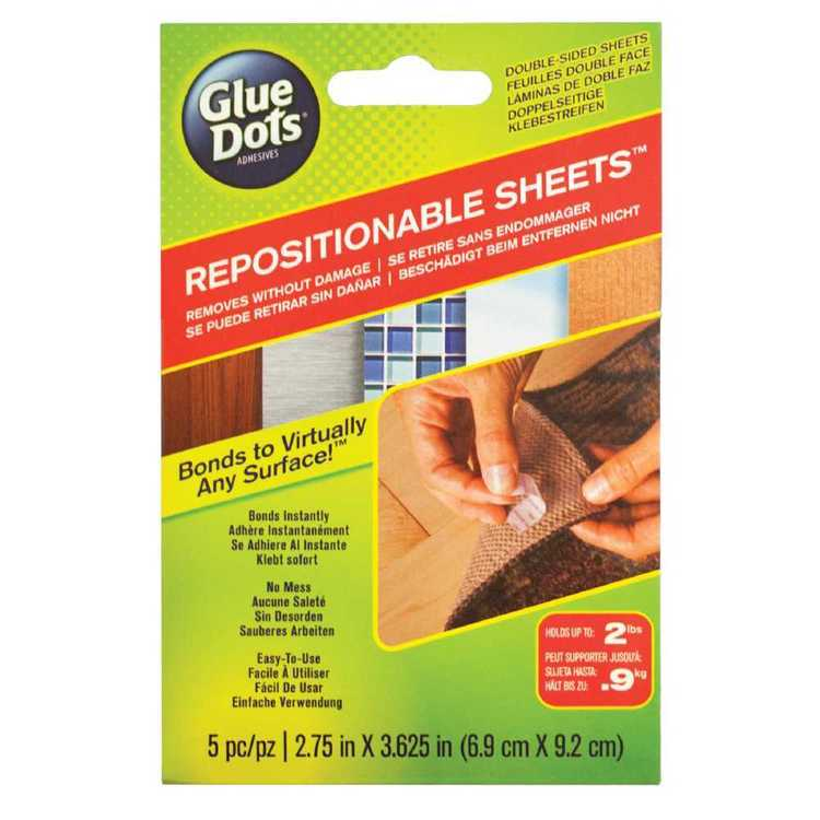 Glue Dots Repositionable Sheets