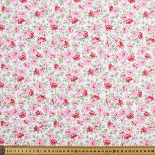 Cabbage Rose Printed Poplin Fabric