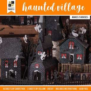 Die Cuts With a View Paper Stack Haunted Village