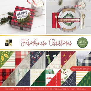 Die Cuts With A View Farmhouse Christmas Paper Pad