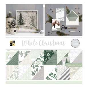 Die Cuts With A View White Christmas Paper Pad