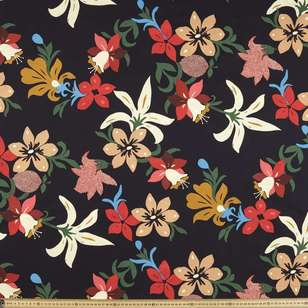 Flower Power Printed Cotton Linen Fabric