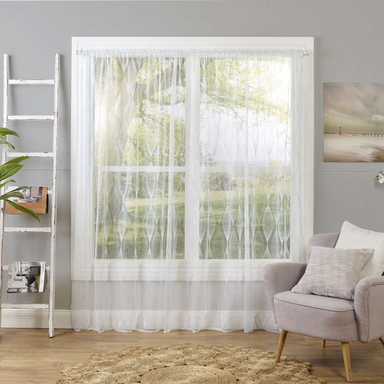 Caprice Carolyn Continous Sheer Curtain White 213 cm
