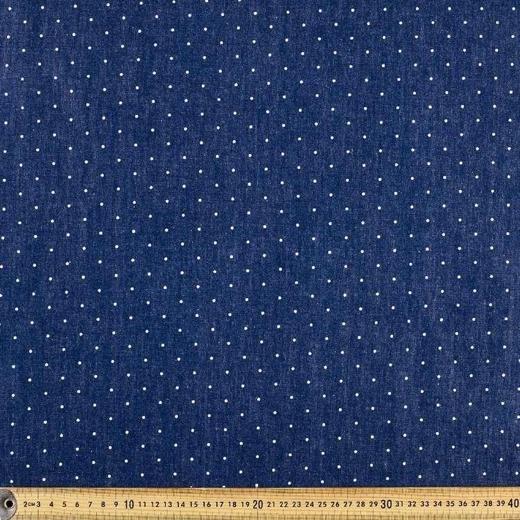 Spot Printed Denim Fabric