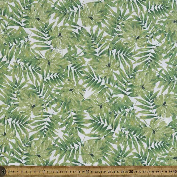 Monsteria Printed Cotton Poplin Fabric