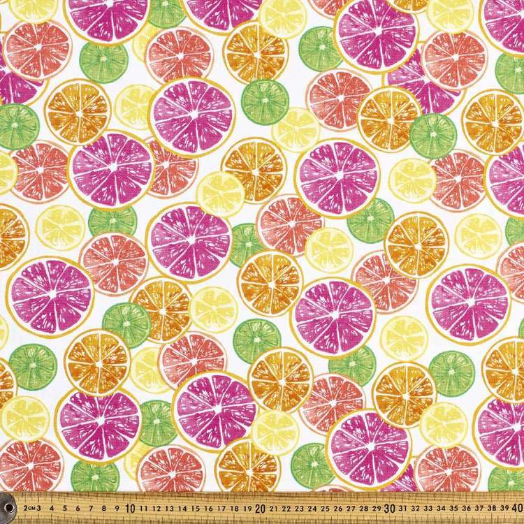 Printed Duck Citrus 112 Cm Fabric