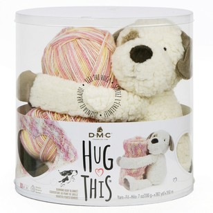 DMC Hug This Puppy Yarn Kit