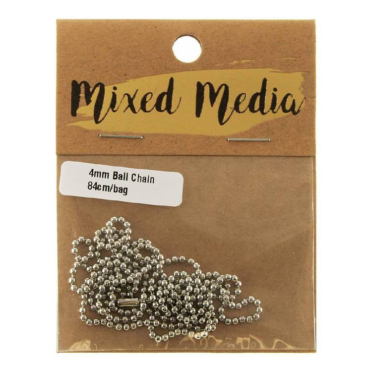 Ribtex Ball Chain with Clasp Silver