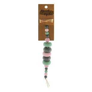 Ribtex Wooden Donut Beads and Twine