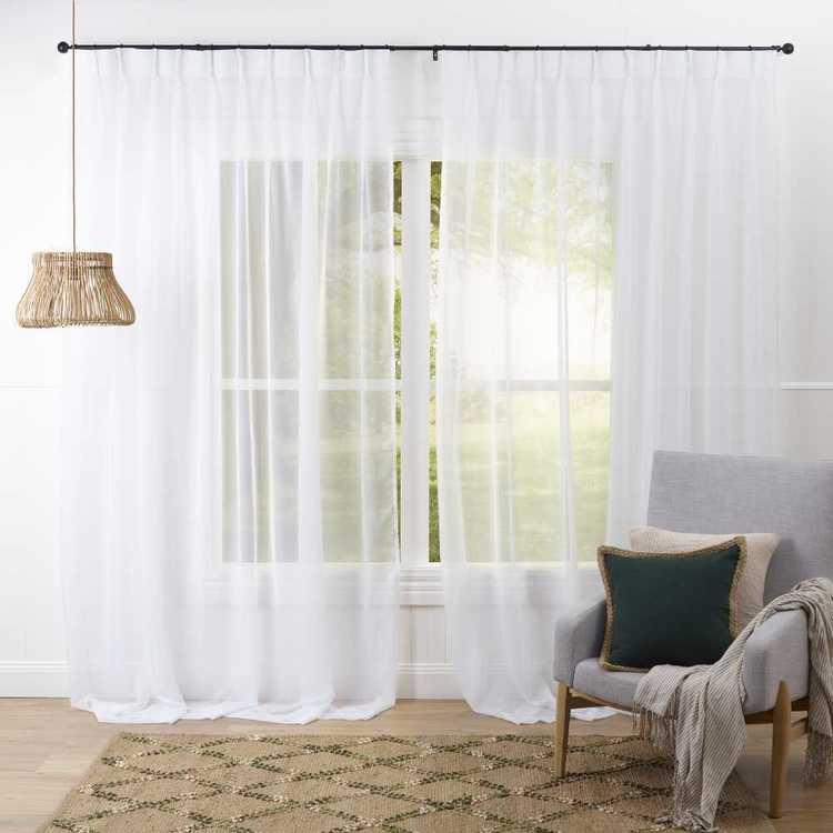 Filigree Sienna Pinch Pleat Curtain