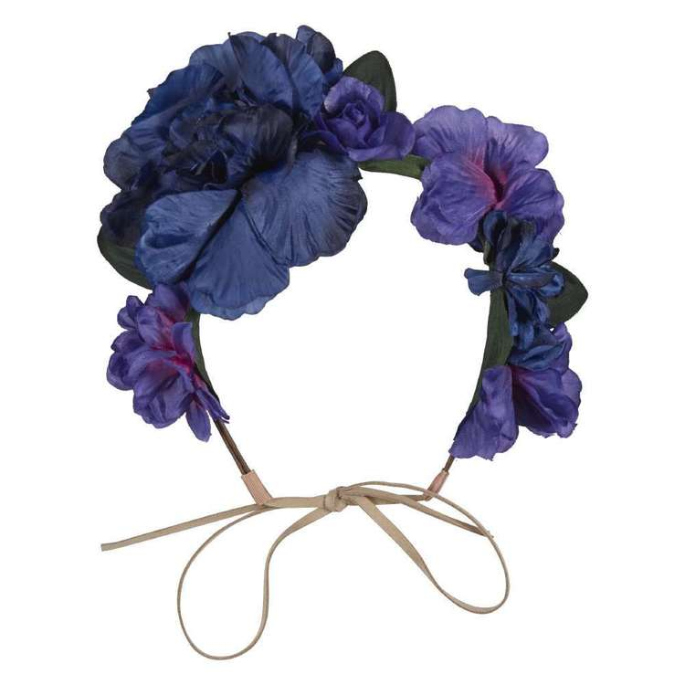 Large Flower Crown Navy
