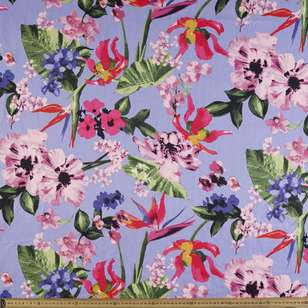 Printed Sateen Big Floral Print Fabric
